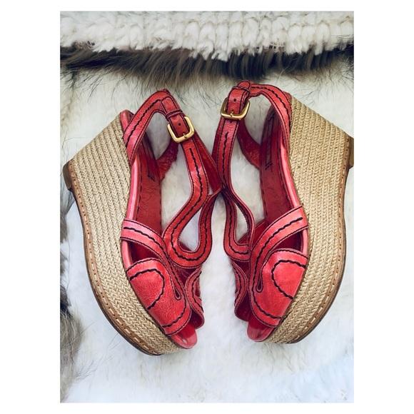2eb6272def8 PRADA Espadrille wedge Sandals size 39